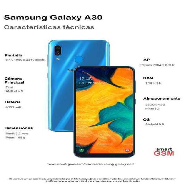 Celular libre samsung a30 6.4'' /4gb ram /64gb