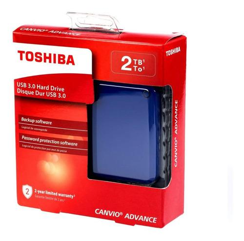 Disco Duro Externo Toshiba Canvio Advance 2t Usb 3 Inmediato