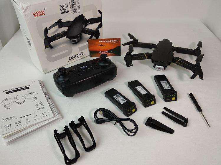 Drone con 3 baterias globaldrone gd89 y sensor de flujo