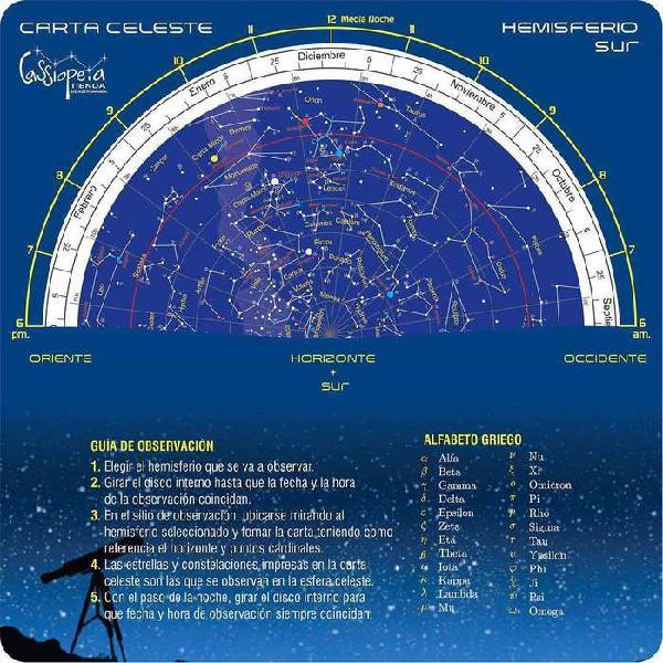 Carta celeste, mapa del cielo