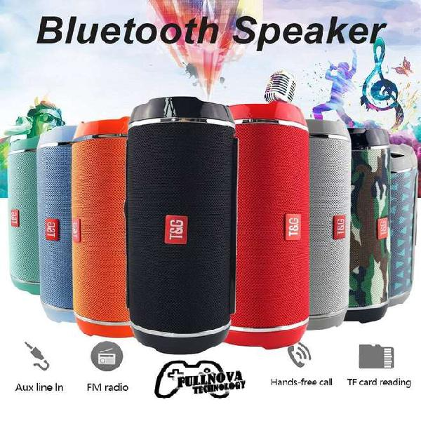 Increible parlante bluetooth tg 116 - 5w*2 rms - usb-micro