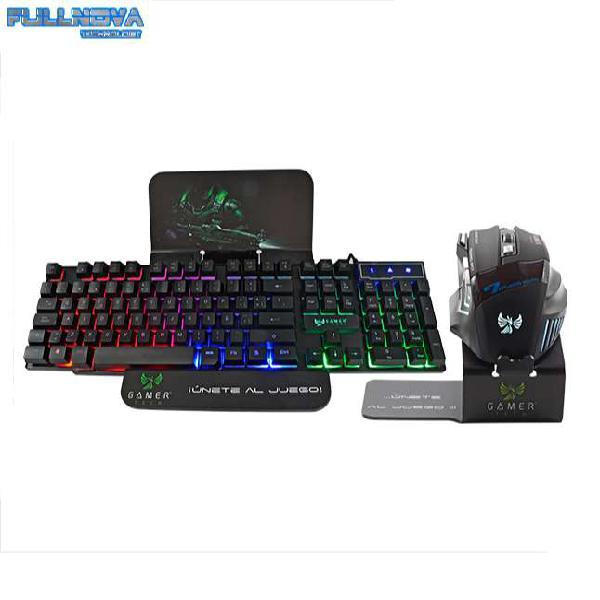 Kiy gamer - teclado - mouse 7 botones - conexión usb - 3200