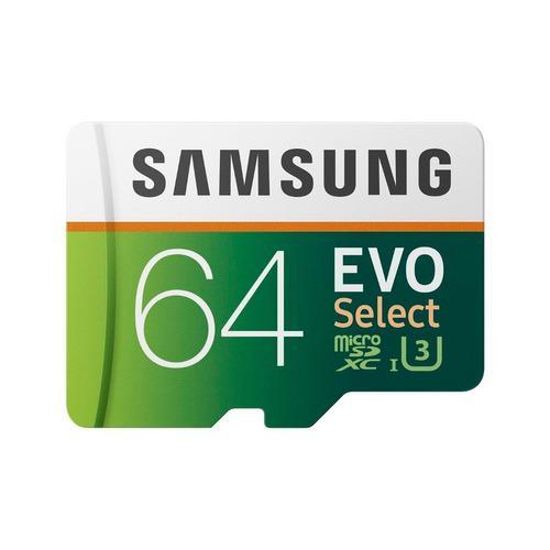 Memoria 64gb Samsung Microsd Evo Select 100mb/s 4k Clase 30