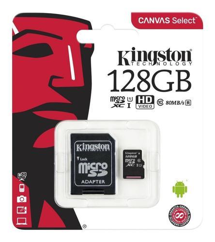 Memoria Micro Sd 128gb Kingston 80mb Cl10 Original Garantia