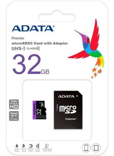 Memoria micro sd 32 gb adata uhs-i class 10 50 mb