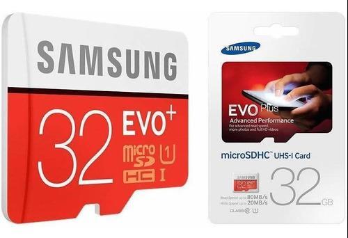 Memoria Micro Sd 32 Gb Samsung Evo Plus Clase 10, Original!!