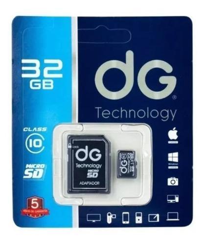 Memoria Micro Sd 32gb Clase 10 + Adaptador Sd Dg Original