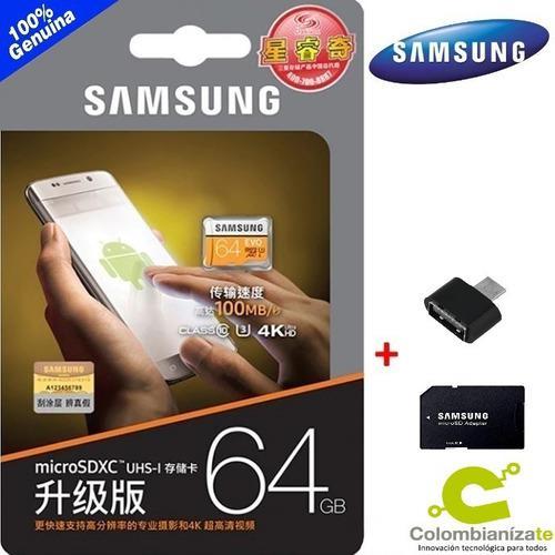 Memoria Samsung Evo 64gb Micro Sd Clase 10 -- Original