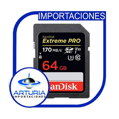 Memoria Sandisk 64gb De 170mb/s Extreme Pro