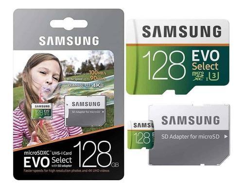 Nuevas Memoria Micro Sd Samsung 128gb U3 4k 100mb/s Usa