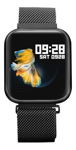 Reloj Inteligente P80 Negro Para Mujer + Manilla Adicional