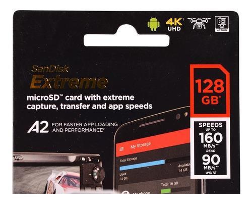 Sandisk Extreme Tarjeta De Memoria Microsdxc 128 Gb Clase 10