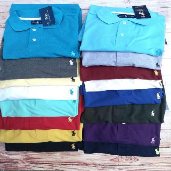 6 camisetas tipo polo en promoción