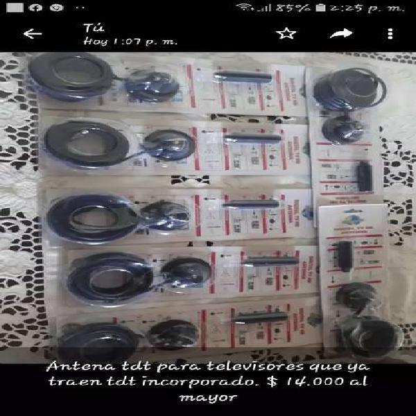 Antenas para televisores modernos de traen tdt television