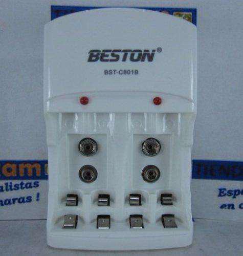 Cargador beston bstc801b solo sin pilas para cargar baterias