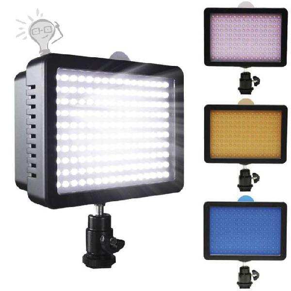 Lampara para fotografia video luces led 160 3 dif. paga al