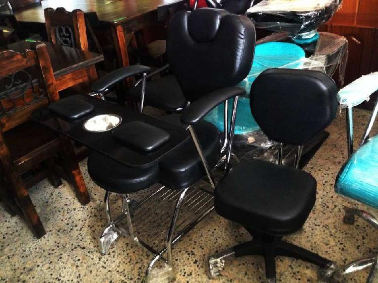 Silla multifuncional para pedicure y manicure nuevo en