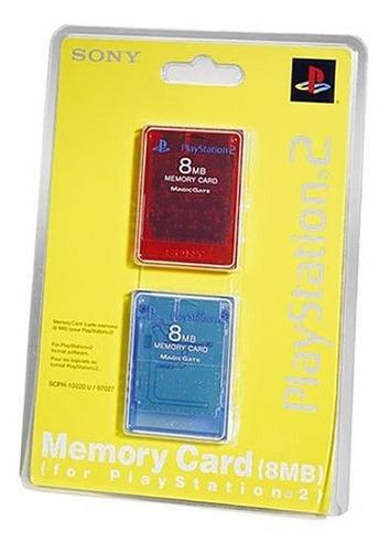 Tarjeta De Memoria Playstation 2 8mb 2pk Redblue