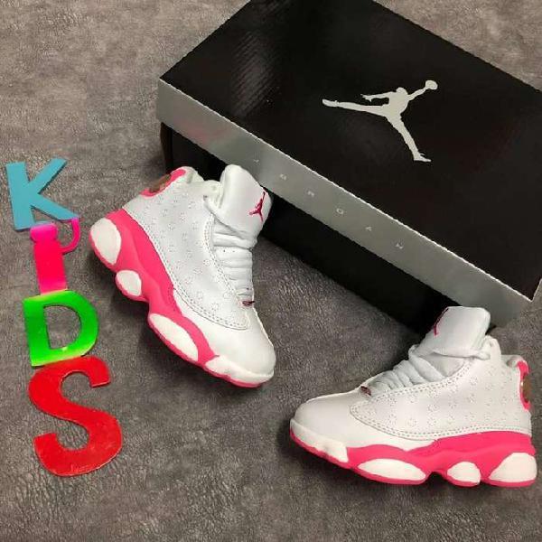 Tenis jordan blanco rosa niñas envio gratis