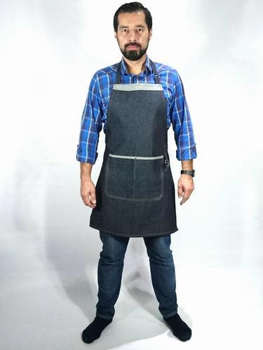 Delantal Denim Chef - Cocina Jean Índigo