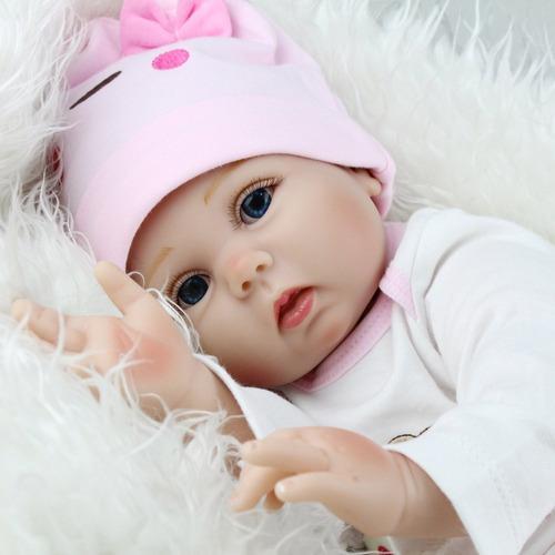 Reborn bebe realista 55 cm ropa accesorios