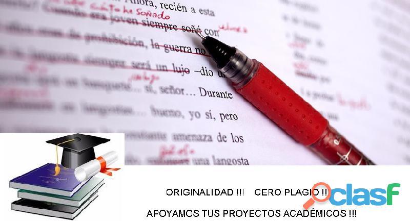 Contra el tiempo y calidad asesoría corregir tesis de grado, articulo, anteproyecto, ensayo. normas