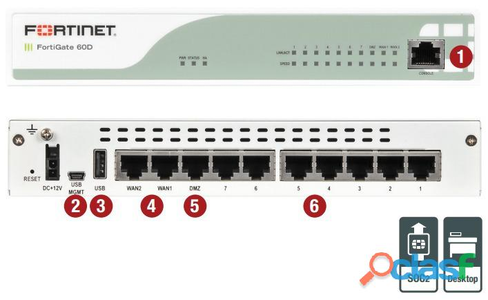 VENDO FORTINET FIREWALL 60D