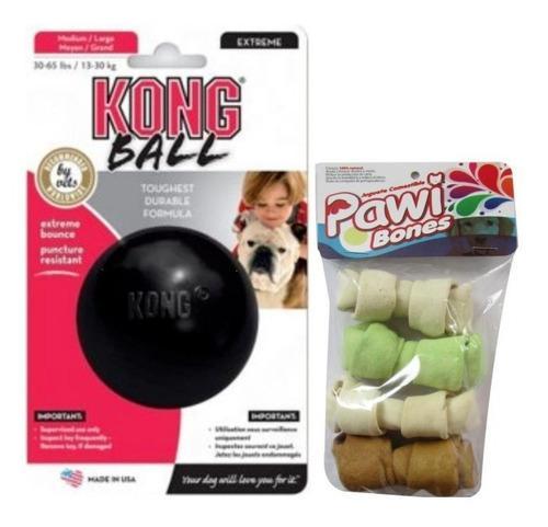 Juguete Perro Pelota Kong Small Extreme Mas Huesos Pawi 4und
