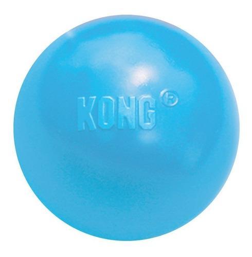 Juguete Perros Kong Ball Puppy Pelota Talla M Medium Azul