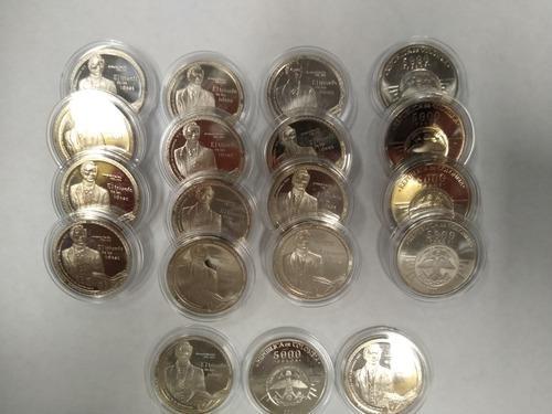 Lote de 11 monedas independencia de cundinamarca x $5.000c/u