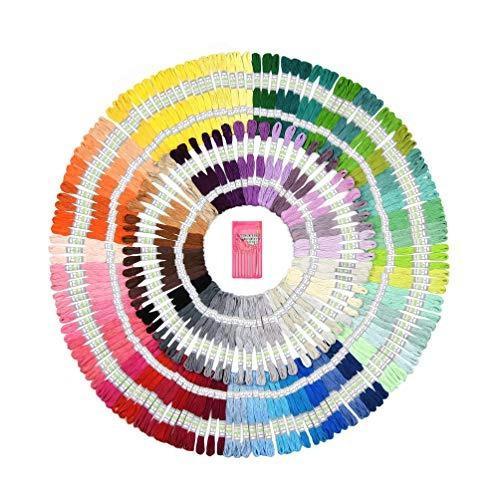 Mira artesanías 210 madejas de hilo de bordar | hilo de co