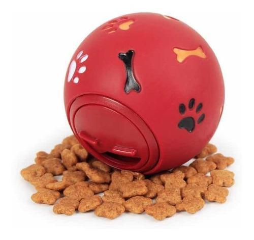 Pelota Para Perro Tira Galletas- Raza Pequeña Talla S Rojo