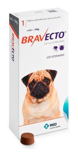 Antipulgas Masticable Bravecto Perros 4.5 Y 10kg 250mg