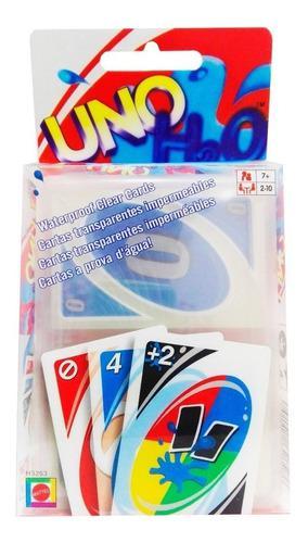 Cartas uno h2o juego de mesa adultos y niños impermeable