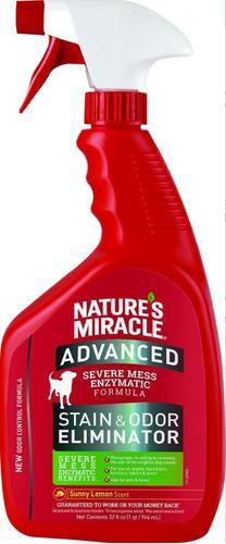 Natures Miracle Perros Eliminador Manchas Olores Limón 32oz