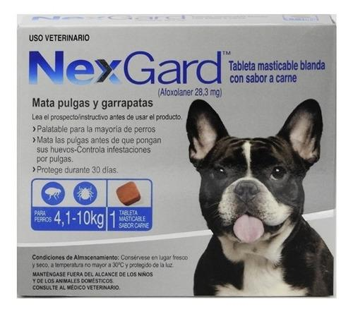 Nexgard Perros 4 A 10kg Masticable Pulgas Garrapatas