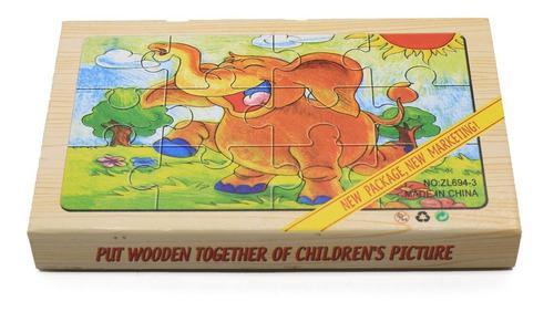 Rompecabezas madera 4 en 1 niño ficha grande juego