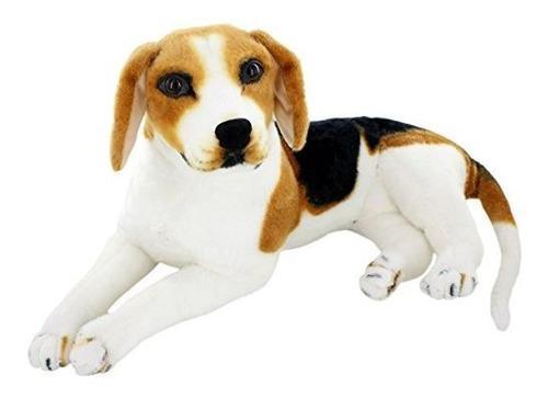 Jesonn animales peluche realistas beagle juguetes peluche p