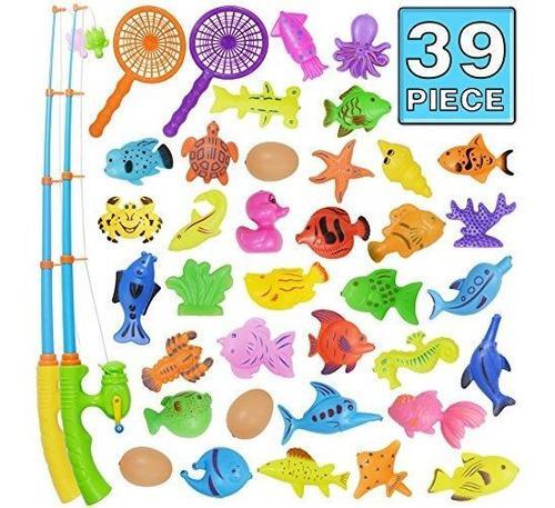 Juguete de baño39 pieza de juguete de pesca magneticacolor