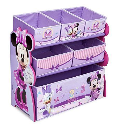 Organizador de juguetes multi-bin, disney minnie mouse