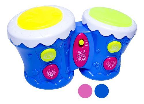 Tambor bebé musical didáctico luces y sonido