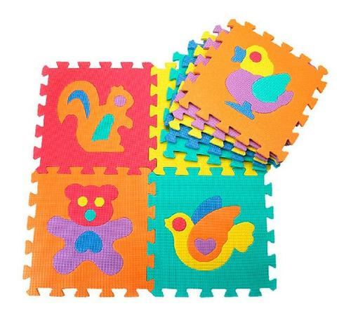 Tapete foamy x20 piezas animales números rompecabezas 710