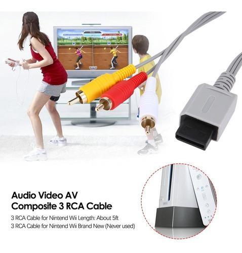 Cable audio video para nintendo wii 1.8 metros