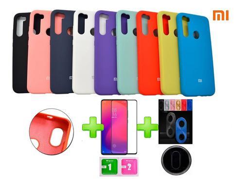 Estuche Xiaomi Silicon Case Vidrio Templado Camara Aluminio