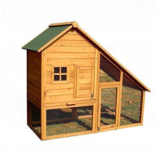 Aleko accrh55x26x47 casa para mascotas de madera gallinero p