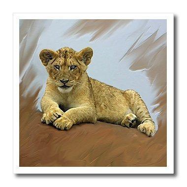 Animales salvajes cachorro de león hierro sobre transfere