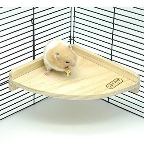 Niteangel fan shape plataforma de madera hamster small anima