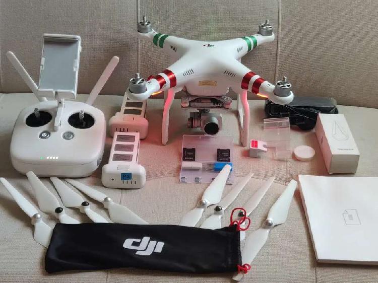 Drone dji phantom 3 profesional + 3 baterías + maletín