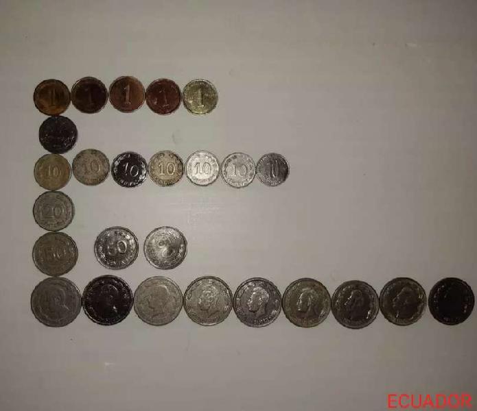 Monedas antiguas del ecuador