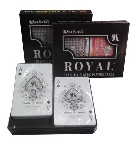 Poker royal plastificada